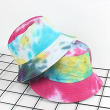cb0c4978ed3 2018 creative Tie dye adult Bucket Hat Colourful graffiti Bob Caps Hip Hop  Gorros Men women