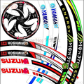 """17 ''-19"""" Rueda de La llama Reflectante Autos Motos Lamer Sticker, motoycycle neumático de rueda de coche pegatina Reflectante borde de la cinta"""