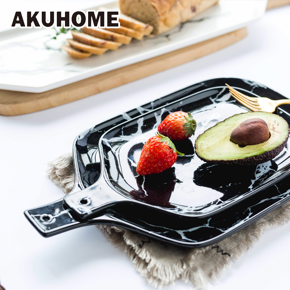 European Marble Tableware Ceramic Tableware Dish Face Plate Platter Bow Cutter Board ...
