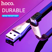 hoco cable usb a to micro usb fast charging data sync wire denim braided flat cord charger for Samsung Xiaomi Huawei Android все цены