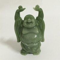 Chinese Gelukkig Maitreya Boeddha Standbeeld Sculptuur Kunstmatige Jade Stenen Huis Tuin Decoratie Geluk Lachende Boeddhabeelden Beeldje