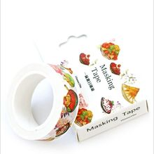 15mm Wide Summer Dishes Cool Salad Washi Tape DIY Scrapbooking Sticker Label Masking Tape School Office Supply