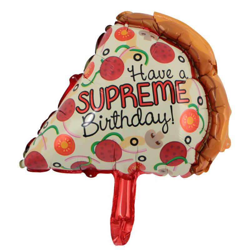 HOT 1PC hamburguesa Hot Dog Donut Pizza helado de aluminio globo decoración para fiesta de feliz cumpleaños pastelería DIY globos inflables
