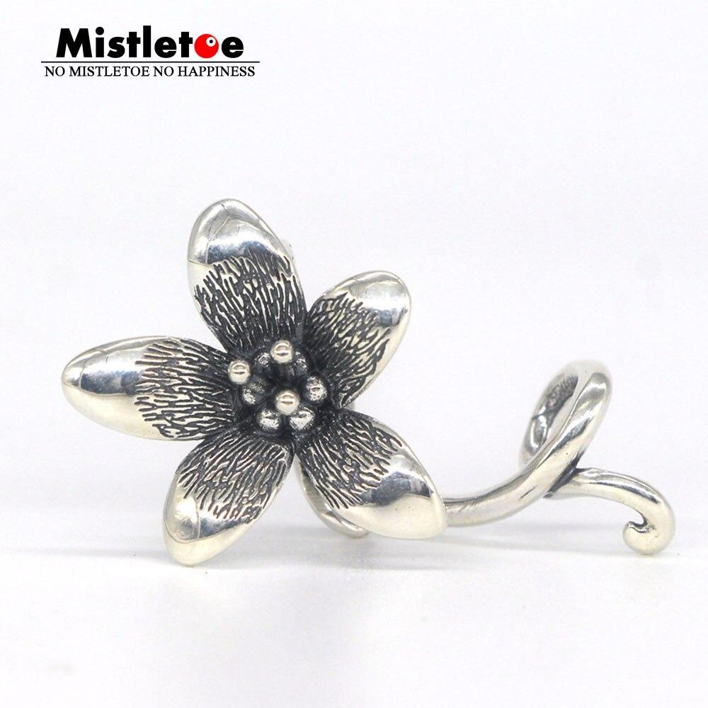 Омела ювелирные изделия из натуральной 925 пробы серебро не оригинальный цветок Тролль кулон с анемоном Fit Европейский браслет без бисера