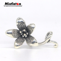 Mistletoe Jewelry Genuine 925 Sterling Silver Not Original Flower Troll Anemone Pendant Fit European Bracelet  Without Bead