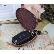 Drop shipping 2019 New fashion Key holder for car keys wallet pouch bag Genuine leather keychain housekeeper car key case