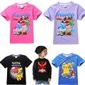 2017 nuevo verano Niños del hombre araña de La Buena Suerte Trolls corto mangas Tees Ropa Niños Camisetas moana Jóvenes Niñas camiseta