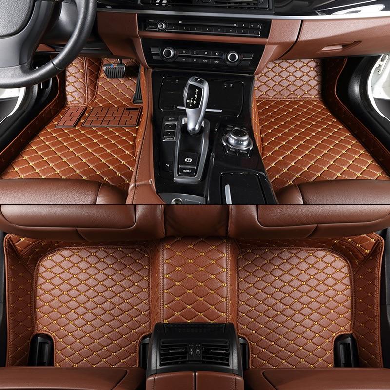 Tengrui заказ автомобиля Коврики для Audi A1 A3 A4 A4L A5 A6 A6L A7 A8 Q3 Q5 Q7 S и RS Авто Коврики accesserios кожа Коврики