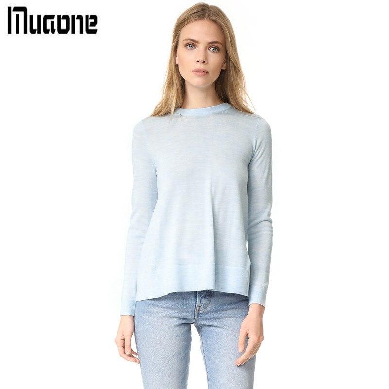 MUAONE 2018 Autumn New Womens Fashion Small Fresh Bow Design Sweater High Quality Brand Clothes M62Q50288