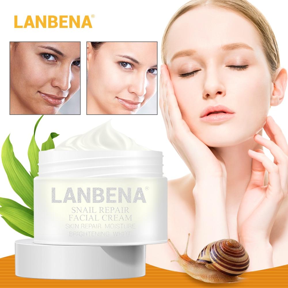 Lanbena Snail Repair Facial Cream Whitening Day Cream Anti Wrinkle Anti Aging Acne Treatment Moisturizer Firming Skin Care 30g