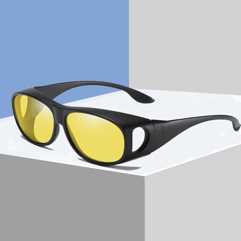 fce384decfe Coating Sunglasses Night Driving Eyewear Anti-Glare Wear Glasses Fit Over  Prescription Glasses Wrap Around