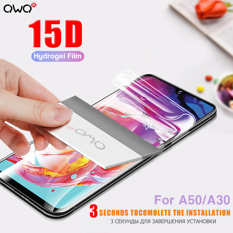 15D Full Cover Hydrogel Soft Film For Samsung Galaxy A50 A30 A70 A20 A80 A90 A10 Screen Protector A7 A6 A8 Plus A9 2018 A5 2017
