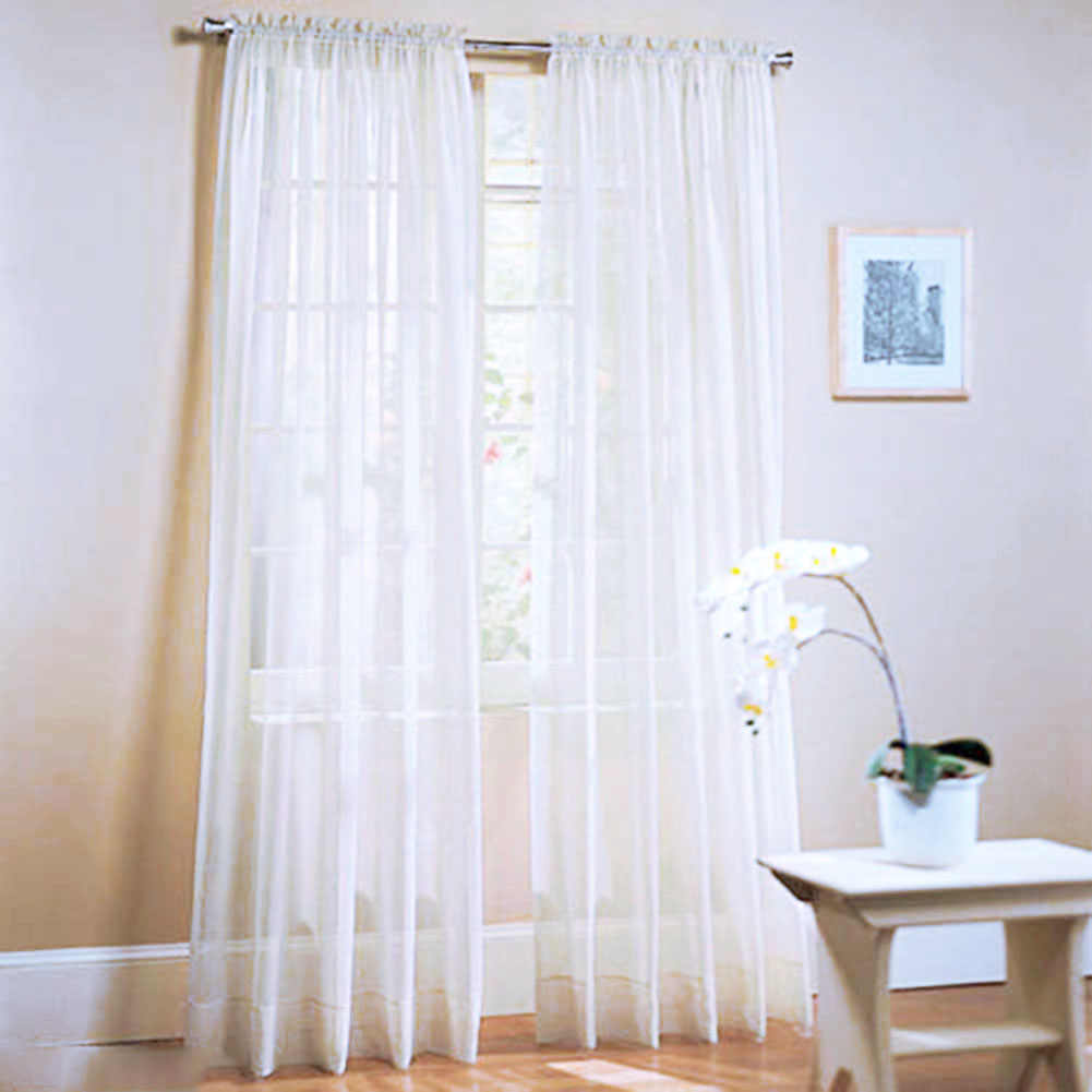 Window Curtains Solid Color For living Room Bedroom Curtains Window Home Decor 19 Color 1X2M AA