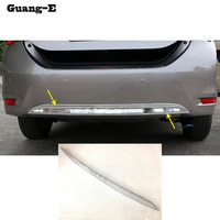 For Toyota Corolla Altis 2014 2015 2016 Car Body Cover Protection Bumper ABS Chrome Trim Rear