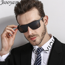 91af1445cc8 Jsooyan Retro Polarized Sunglasses Brand Designer Men Business Driving Sun  Glass Male Dark Green Vintage Square