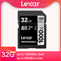 Оригинальная карта памяти Lexar Class10 250 м/с 64 Гб 128 ГБ 256 ГБ, SD карта памяти 1667X UHS-II U3 SDHC 32 ГБ, карта памяти для цифровой камеры 3D 4K
