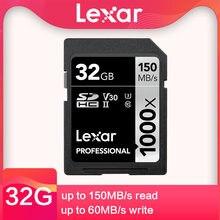 Lexar cartão de memória, original, classe 10, 250 m/s, 64gb 128gb, 256gb, sd, 1667x, UHS-II u3, sdhc 32 gb cartão de memória para 3d 4k câmera digital