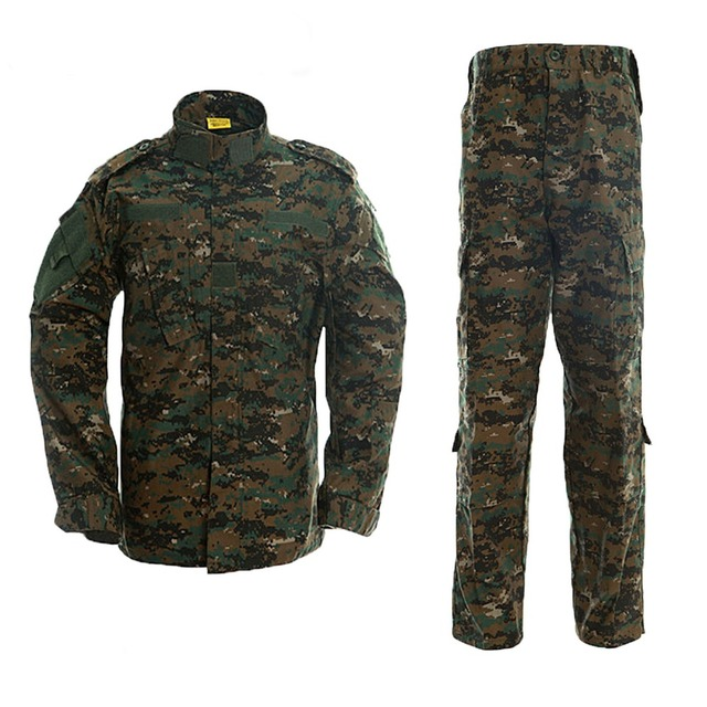 Black Military Uniform Camouflage Suit Tactical Military Airsoft Paintball Equipment Clothes 8