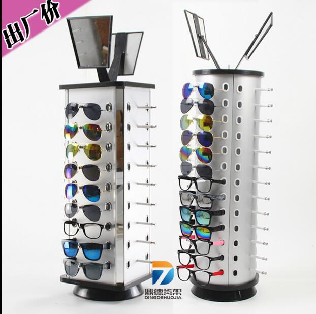 The eyeglasses display frame can rotate the round table of the fine sunglasses shelf