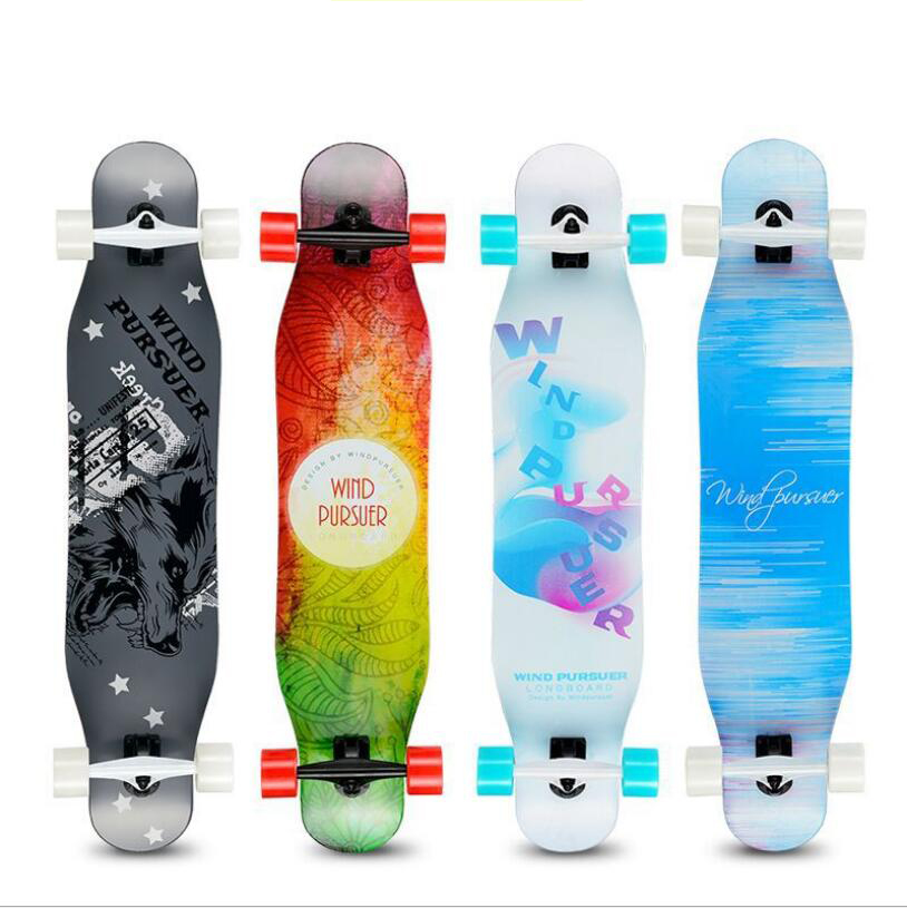Professional Long board Dancing 107CM Highway Downhill Skateboard Freestyle Road Brush Street Skate Longboard-in Skate Board from Sports & Entertainment