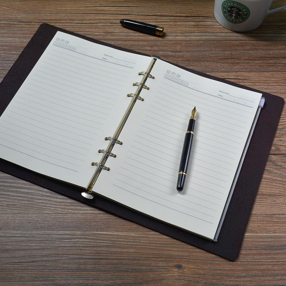 Classic Writing Zakelijk Notebook A5 Leder Cover Hervulbare Pages - Notitieblokken en schrijfblokken bedrukken - Foto 3