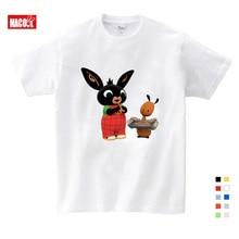 Children Cartoon Bing Rabbit/Bunny Funny T Shirt Baby Boys/Girls Cute Summer Tops Kids Casual Clothes 3-12 Years T-shirts