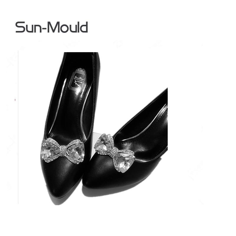 Azul Accesorios Encantos Rhinestone 50 Tacón Diamante Nupcial Zapatos Alto Par Cristal plata Decoración De Bombas Clips Flor Diarios wqSIP4xqa