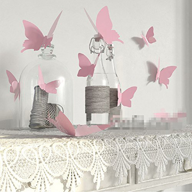 12 шт. наклейки с бабочками кантри Свадьба для новобрачных, вечеринка в честь новорождённого дня рождения Рождество Новый год Юбилей фестиваль Декорация