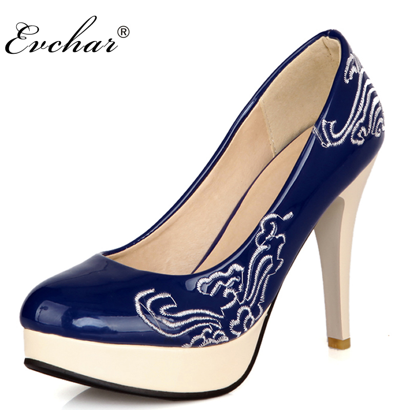 New women pumps PU patent leather thin high heel platform pointed toe shoes woman   Sexy Fashion Party wedding shoes  size 32-48 plus size 11 12 black pointed toe wedding women shoes summer office ladies work shoes thin high heel pu leather woman pumps