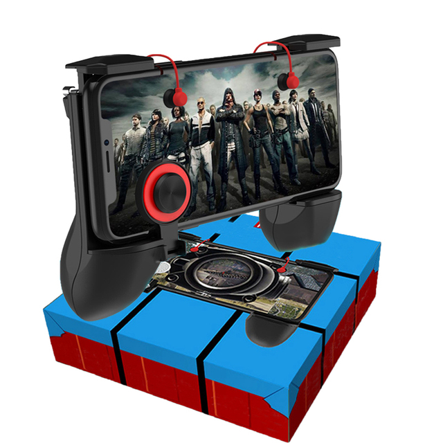 3 in 1 PUBG Game Fire Button Aim Key Smart phone Trigger R1 L1 Shooter Gampads PUBG Mobile Gaming Handle Shooter Controller