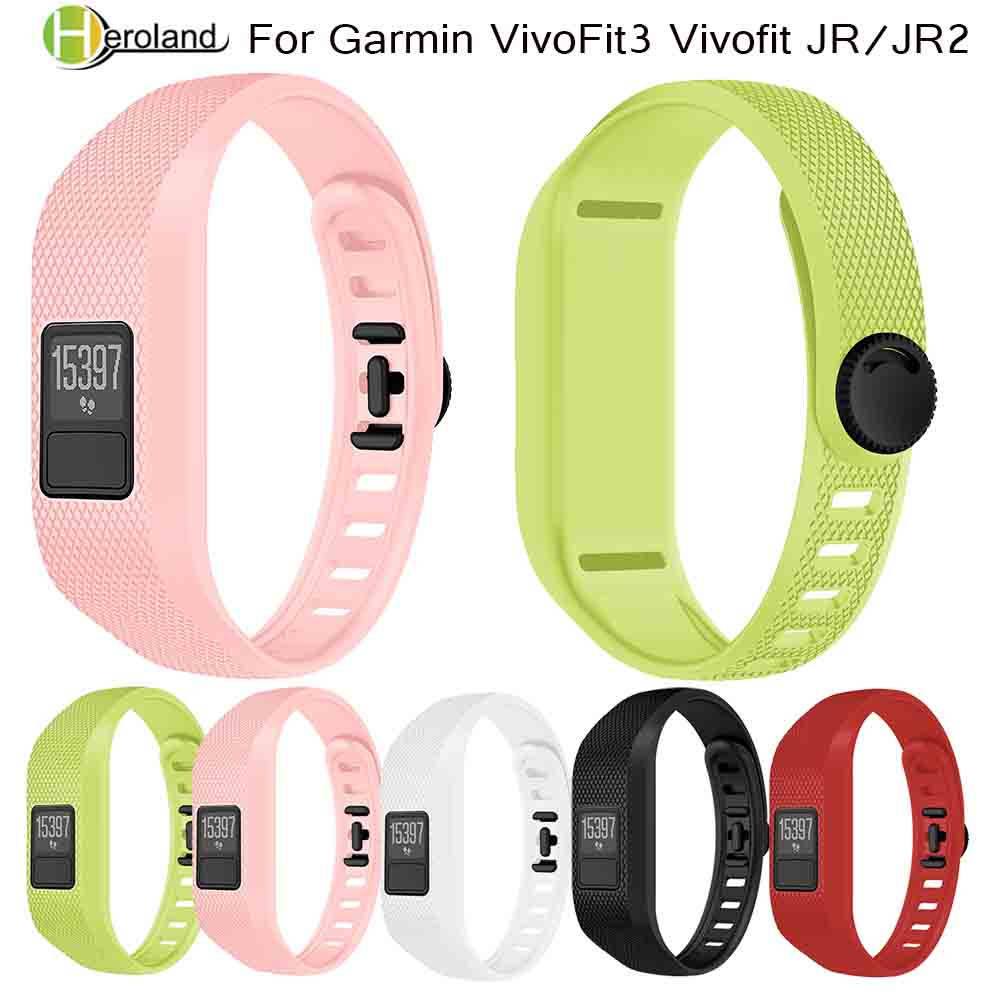 Replacement Wrist Strap For Garmin VivoFit3 Vivofit JR/JR2 Universal Silicone Bracelet Strap Wristband Kids Smart Watch Band New
