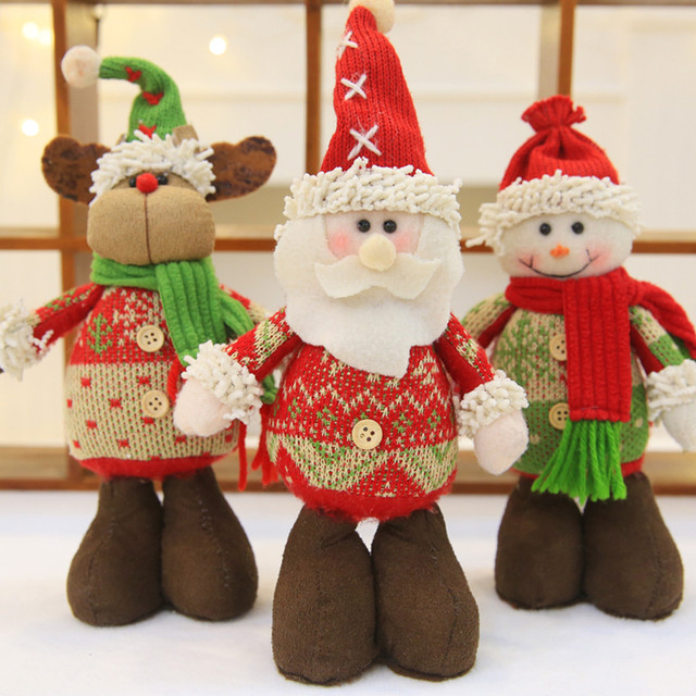 2018 Merry Christmas Decorations Diy Christmas Gifts Felt Cloth Decorative Ornaments Dolls For Gift