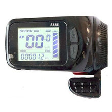 FOCAN 24v 36v 48v Electric Bike Assistant LCD Display Thumb Throttle Type LCD Display S886