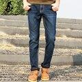 Pioneer camp marca ropa de polar de invierno pantalones vaqueros de los hombres de alta calidad moda casual male pantalones de mezclilla azul oscuro azul de los hombres calientes pant
