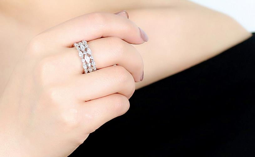 ZOZIRI marque vente chaude 925 en argent sterling cercle anneaux pour les femmes élégantes complet cubique zircone anneaux meilleurs bijoux de fête d'anniversaire