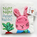 2017 Baby Toys 0~12 Months Rabbit Baby Cloth Books English Language Rattle Toy Newborn Crib Cloth Infant Education Kids Toy