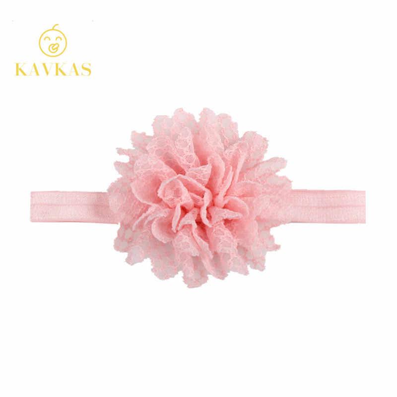 KAVKAZ ใหม่ 1 Pcs หญิง Headband ทารกแรกเกิดที่สวยงามเด็กผู้หญิง Hairband ตาข่ายดอกไม้ลูกไม้สายรัดเด็กอุปกรณ์เสริมผม