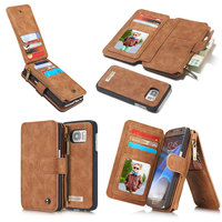 2 In 1 Multi Functional Genuine Leather Case For Samsung Galaxy S6 S7 Edge Plus Note5