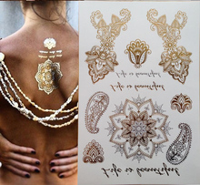 300 Style Body Art Chain Gold Tattoo Temporary Tattoo Tatoo Flash Tattoo Metallic Tattoo Jewelry Temporary Tattoost Stickers