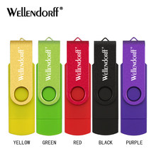 Colorful OTG USB Flash pendrive 128GB 64GB 32GB Pen drive Micro USB 8GB 16GB USB Flash Drive For Computer/Android Phone(China)