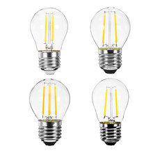 E27 G45 2W/4W LED Lamp Bulb Vintage Retro Filament LED Light Bulb AC220V Energy Saving Home lighting light(China)