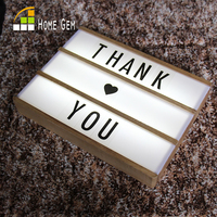 Led Letter Lamp A4 DIY Wood Light Box Wood Lightbox Led Letter Message Board Night Lamp
