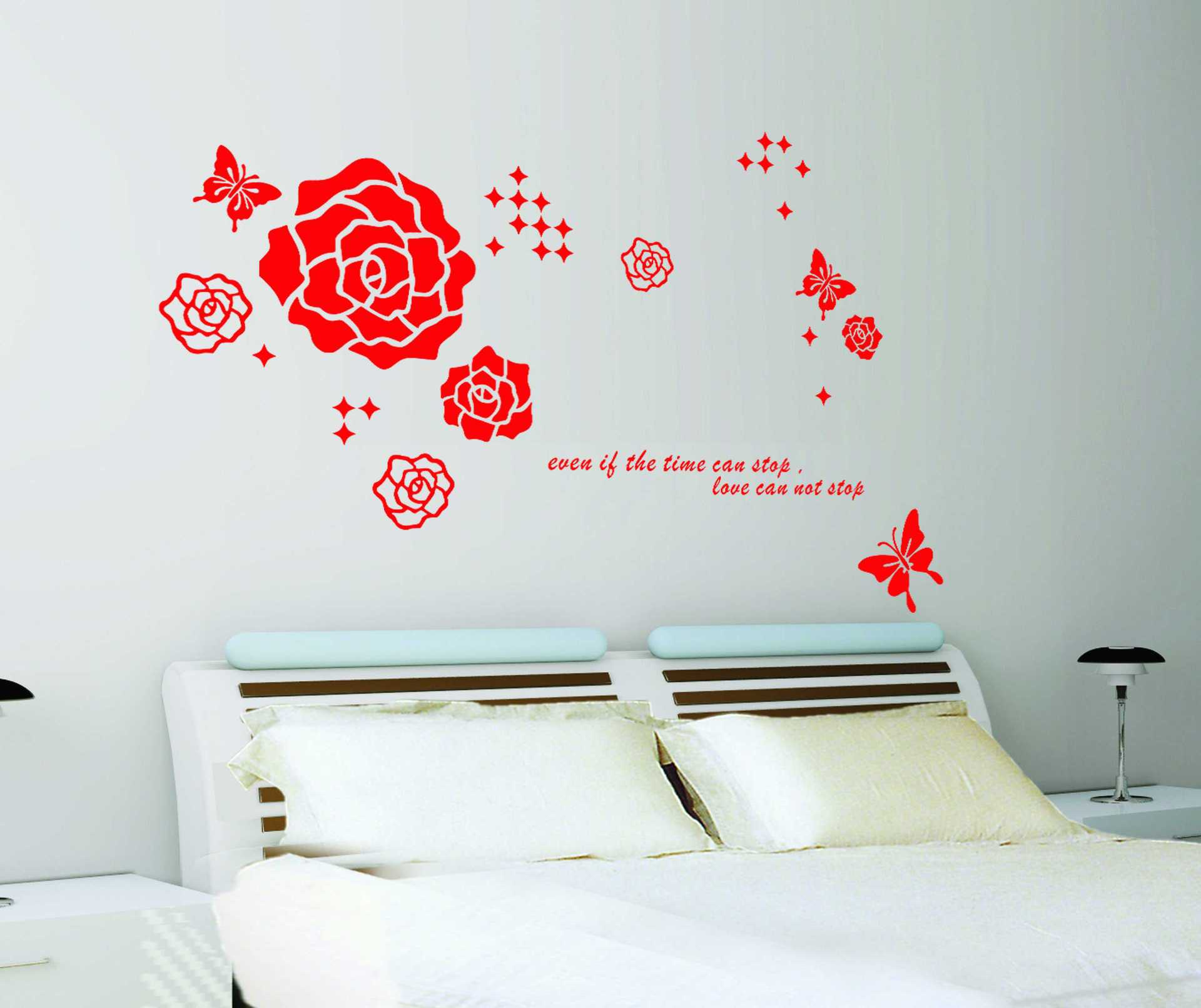 online get cheap vintage butterfly decorations aliexpress com 50 70cm red rose wallpaper mural poster vintage flower wall sticker butterfly removable wall stickers