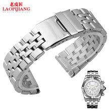 Correa de acero inoxidable A3733012 hebilla desplegable venda de acero inoxidable sólido interfaz Universal reloj accesorios