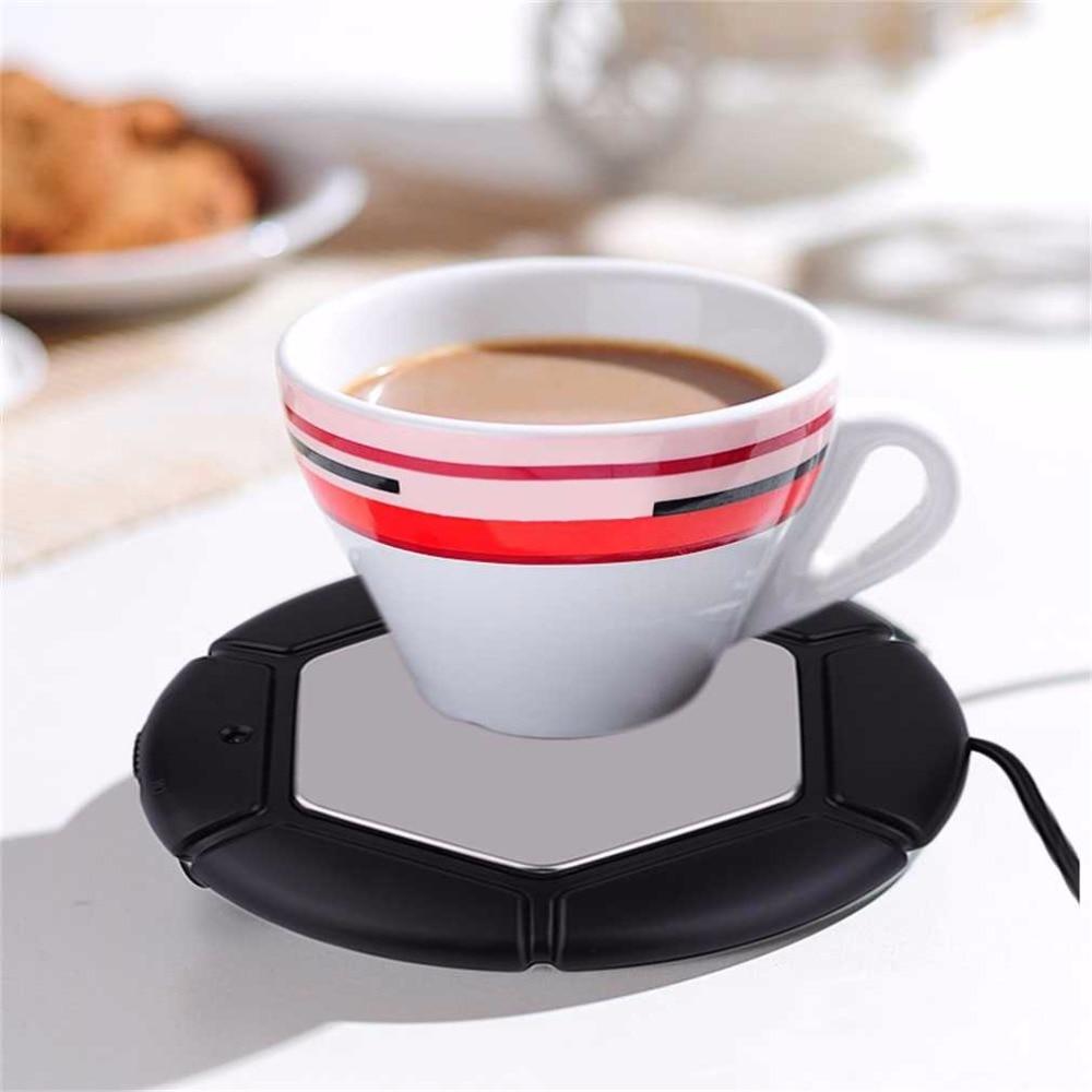 2 Colors Desktop Tea Coffee Cup Mug Pad USB Warmer Mat Heater USB Heat Preservation Mat Warm Keep Drink Warm 40-80C