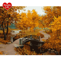 Framed Picture Painting By Numbers DIY Digital Canvas Oil Painting Handpainted Home Decor Beautiful Autumn Wall