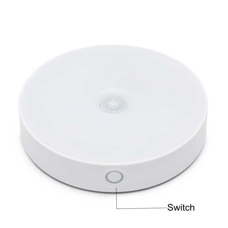 6 LED Unter Kabinett Licht PIR Motion Sensor Licht Für Schrank Schrank Schrank Küche Schlafzimmer Nacht Licht Lampe USB Aufladbare