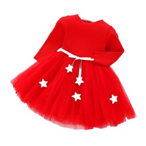 Christmas New Lace Baby Girl Dress 1 2 3 4 Years Baby Girls Birthday Dresses Vestido birthday party princess dress for children
