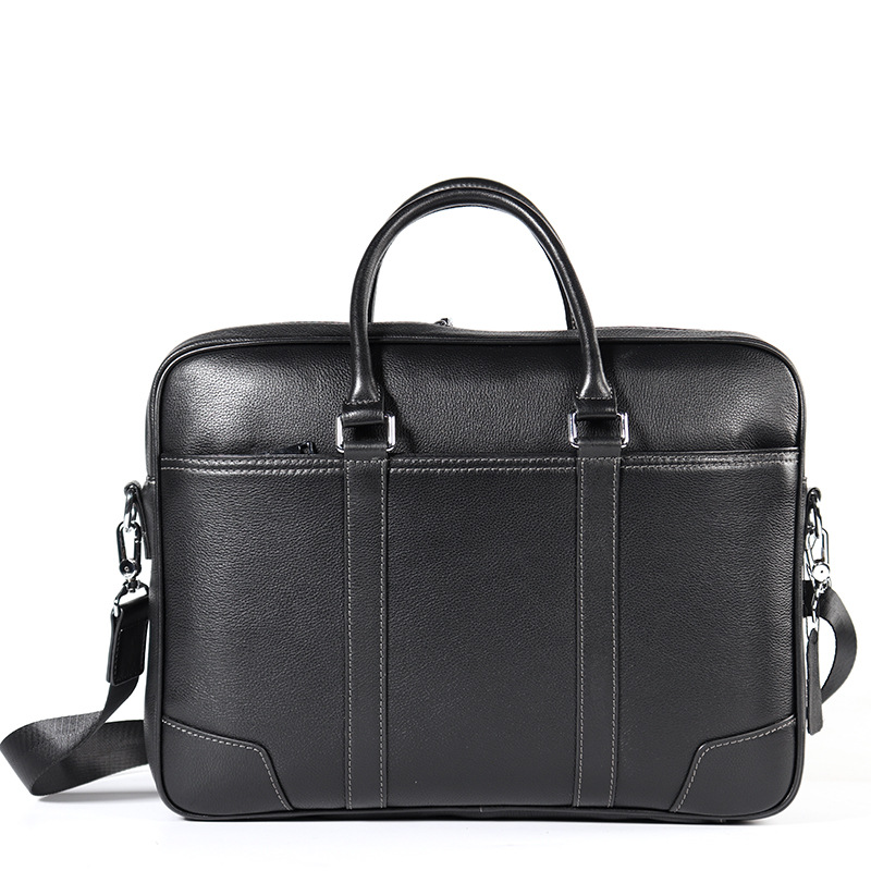 Real Leather Classic Business Bag Mens Laptop Bag HandbagReal Leather Classic Business Bag Mens Laptop Bag Handbag