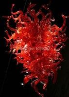 O Envio gratuito de Decoração Iluminação De Vidro Rústico Lustre Vermelho